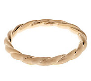 Oro Nuovo Average Satin Finish Twist Round Bangle, 14K - J282982