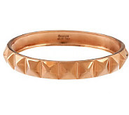 Bronze Large Pyramid Design Polished Round Bangle by Bronzo Italia - J284682
