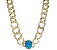 As Is Rivka Friedman Bold Curb Link Gemstone Necklace - J285582
