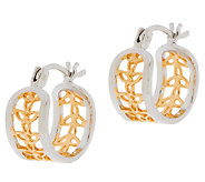 Solvar Sterling Silver & 18K Gold Plated Trinity Knot Earrings - J287482