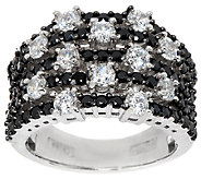 Diamonique Black Pave & Scattered Stones Ring, Sterling - J295082