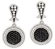 Judith Ripka Sterling Pave Black Spinel Earrings - J296482