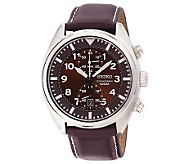Seiko Mens Chronograph Watch with Brown Dial - J297382