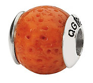 Prerogatives Sterling Rounded Coral Gemstone Bead - J298282
