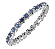 Simply Stacks Sterling Prong Created Sapphire Stackable Ring - J298682
