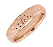 Simply Stacks Sterling 18K Rose Gold-Plated Dimpled 4.25mmRing - J298982