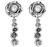 Hagit Gorali Sterling Bloom Cultured Pearl Dang le Earrings - J309882