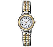 Seiko Womens Two-Tone Expansion Band Dress Watch - J310782