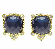 Judith Ripka Sterling Hematite Doublet Stud Earrings, 14K Clad - J313482