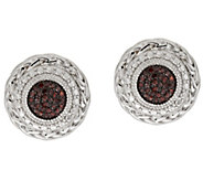 Round Pave Diamond Studs, Sterling, 1/5 cttw, by Affinity - J317382