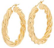 Bronze 1 Twisted Round Hoop Earrings by Bronzo Italia - J317682