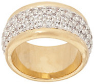 Oro Nuovo Pave Crystal Polished Band Ring, 14K - J319382