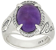 Scott Kay 4.00 ct Amethyst & Diamonique Sterling Ring - J320782