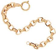 14K Gold 8 Polished Triple Rolo Link Bracelet, 9.0g - J321082