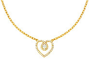 Judith Ripka Sterling & 14K Clad Diamonique Heart Necklace - J323382