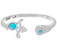 Judith Ripka Sterling Gemstone Zodiac Cuff Bracelet - J324982