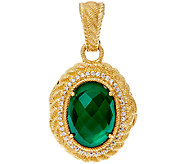 Judith Ripka 14K Clad Green Goddess Locket Enhancer - J327382