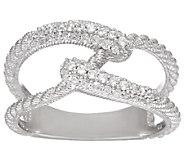 Judith Ripka Sterling 4/10 cttw Diamonique Swirl Ring - J327582