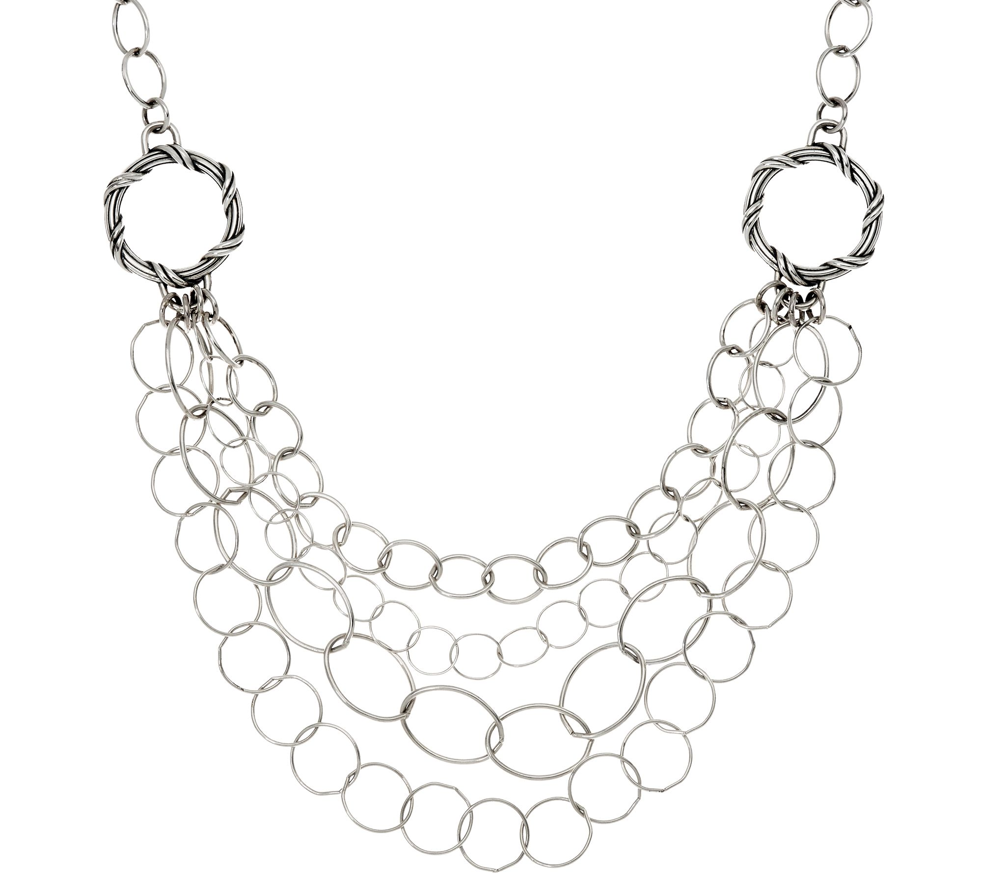 Peter Thomas Roth Sterling Signature Mixed Bib Necklace