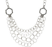 Peter Thomas Roth Sterling Signature Mixed Link Bib Necklace - J328882