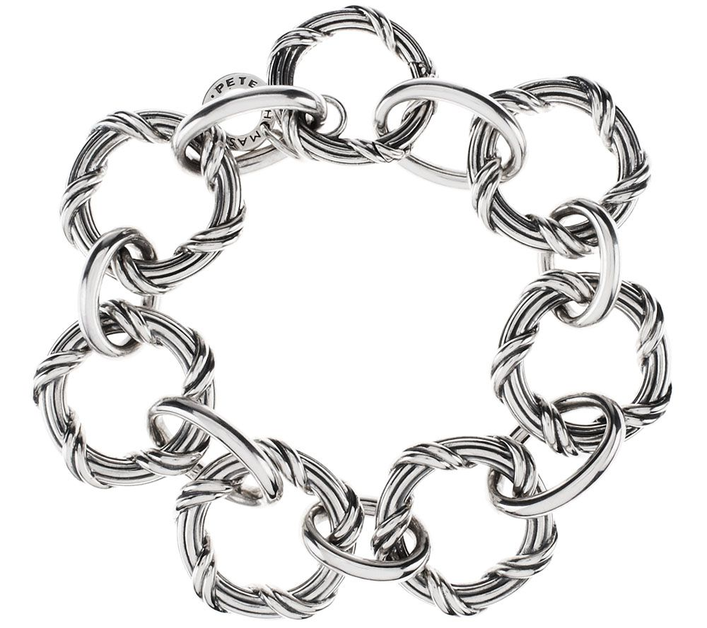 Peter Thomas Roth Sterling Signature Circle Bracelet