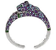Judith Ripka Sterling 17.50 cttw Gemstone Priscilla Panther Cuff - J335282