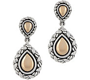 JAI Sterling Silver & 14K Gold Lotus Petal Drop Earrings - J348482