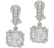 Judith Ripka Sterling Silver 4.70 cttw Diamonique Drop Earrings - J350482