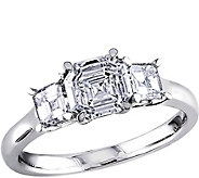 Asscher 3-stone Diamond Ring, 14K, 1.60 cttw, by Affinity - J376582