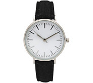 Olivia Pratt Womens Denim Leather Watch - J380482