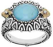 Barbara Bixby Sterling & 18K Turquoise DoubletRing - J381182