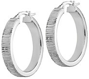 Italian Gold 1 Textured Hoop Earrings 14K, 2.9g - J382182
