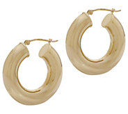 EternaGold Polished Round Hoop Earrings, 14K Gold - J383282
