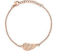 Steel by Design Angel Wing Bracelet - J383782