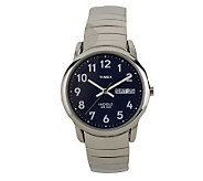 Timex Mens Easy Reader Watch with Expansion Band & Blue Dial - J102883
