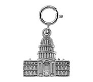 14K White Gold Capitol Building Charm - J105783