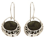 Connemara Marble Sterling Silver Basket Earrings - J269983