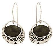 Connemara Marble Sterling Silver Basket Earrings - J269983