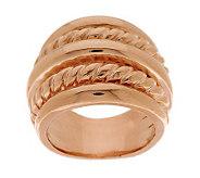 Bronze Multi-Row Polished & Twist Ring by Bronzo Italia - J276883