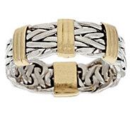 As Is 14K Gold Status Design Bold Wheat Ring - J284383