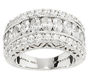 Judith Ripka Sterling 3.30 ct tw 118 Facet Diamonique Ring - J288483