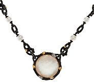 Dweck Diamonds Black Fortuna Gemstone Doublet 18 Toggle Necklace - J290483