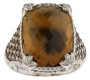 As Is Judith Ripka Sterling Gemstone Monaco Ring - J291683
