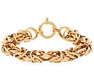 14K Gold 6-3/4 Polished Dimensional Byzantine Bracelet, 11.4g - J295383