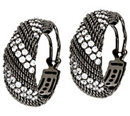 Judith Ripka Sterling & Diamonique Twisted Berge Hoop Earrings - J296483