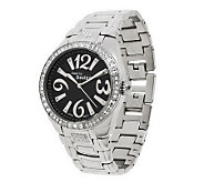 Stainless Steel Crystal Dial Panther Link Watch - J300583