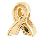 Prerogatives Gold-Plated Sterling Awareness Ribbon Bead - J302683