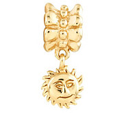 Prerogatives 14K Yellow Gold-Plated Sterling Sun Dangle Bead - J302883