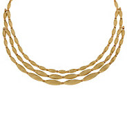 Arte dOro 3-strand Satin Bead Two-tone Necklace, 18K, 51.0g - J304883