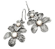Hagit Gorali Cultured FW Pearl Double Flower Earrings, Sterl. - J305483